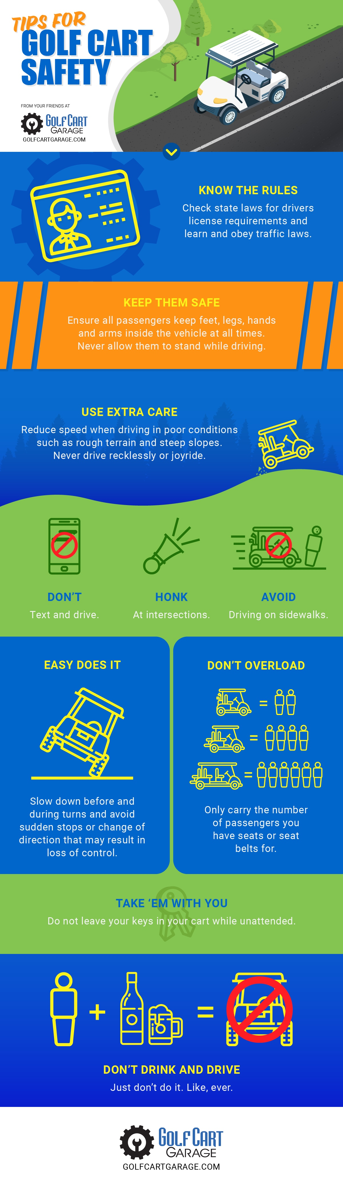 Golf Cart Safety Infographic