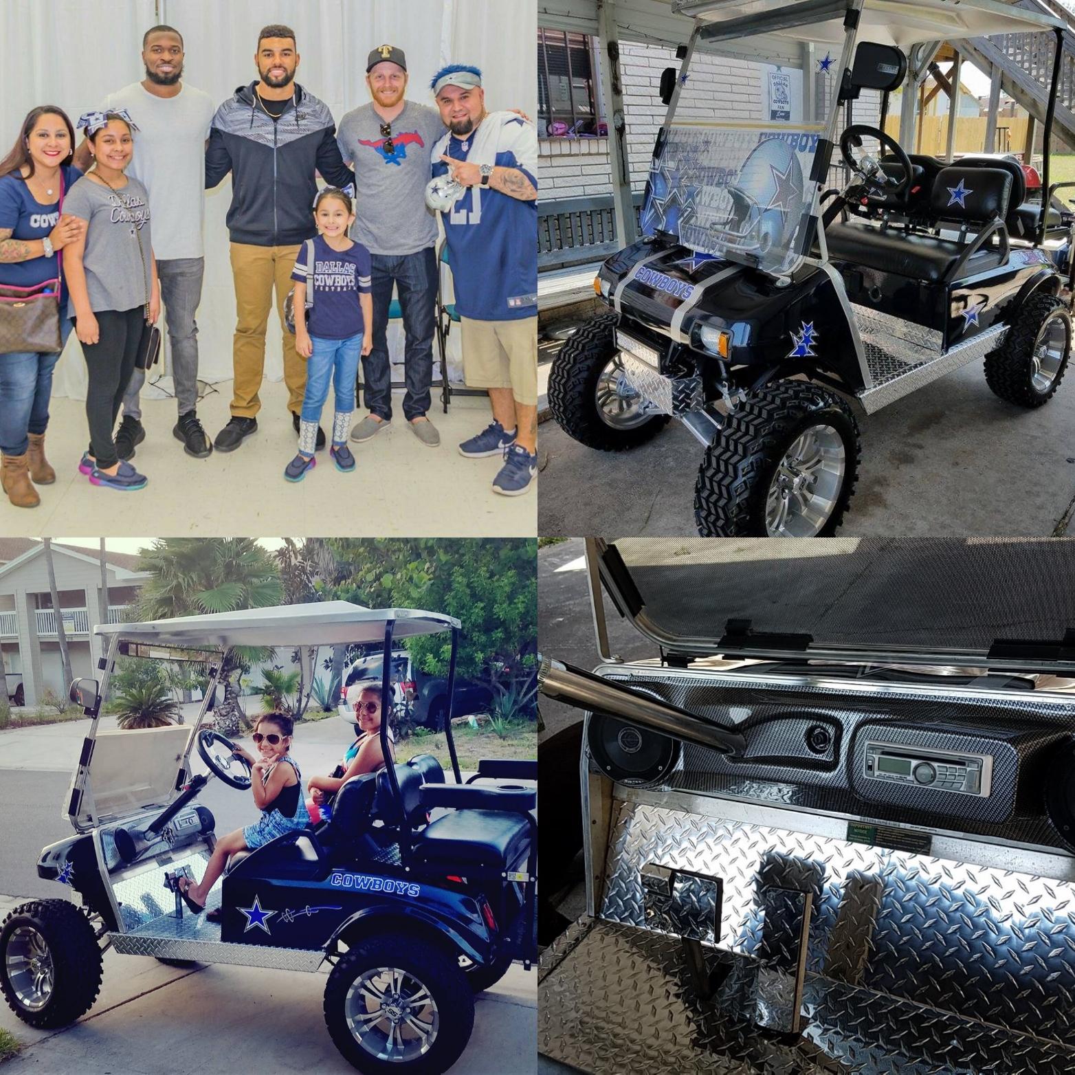 Golf Cart Garage - August 2017 Golf Cart Customer Cart - Victor Luna